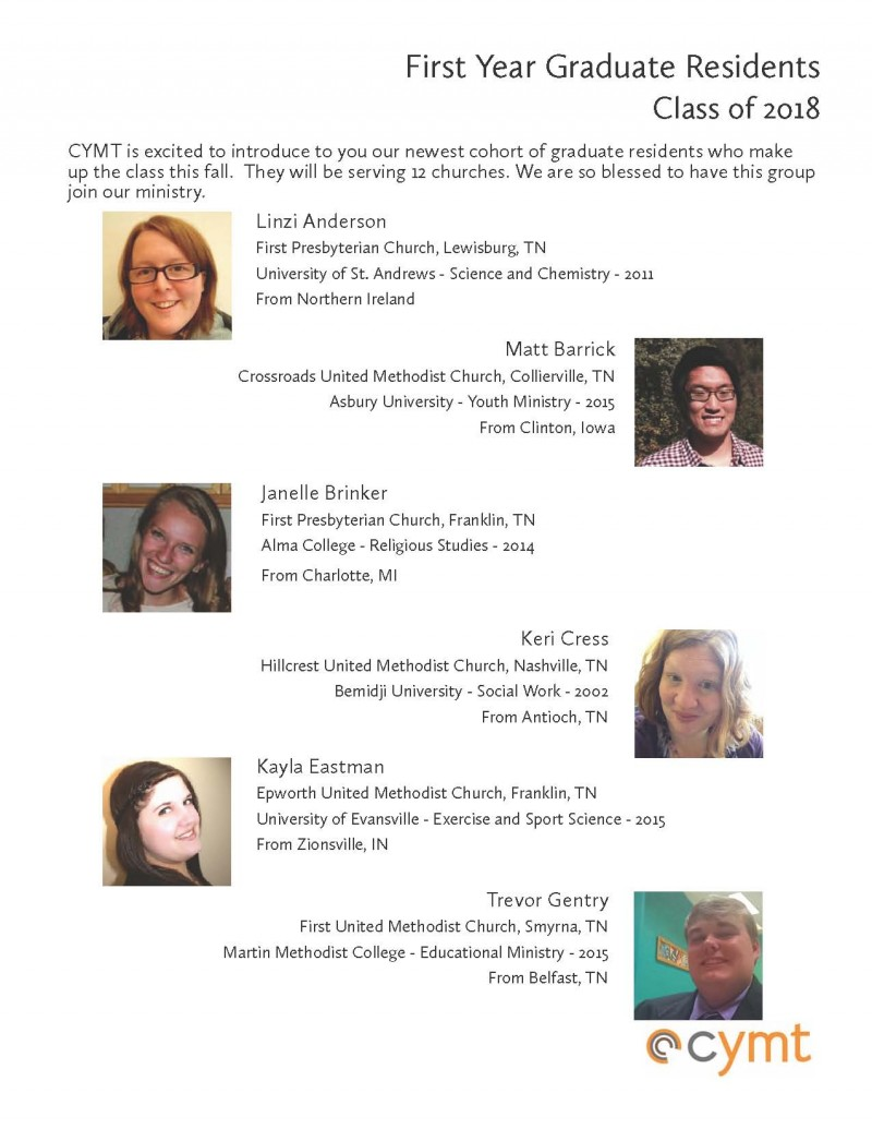 Graduate Resident Bios 1st years_2015_page 1